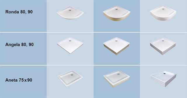 Platos de ducha de acr lico ravak a s for Tipos de platos