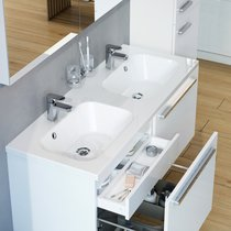 Lavabo doble Chrome 1200